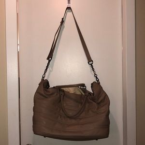 deux lux Faux leather Weekender Bag
